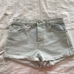 High Waist Light Denim Shorts -Size 26